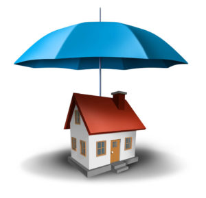 house with umbrella graphic